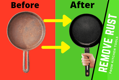 How to remove rust from kitchen tools
